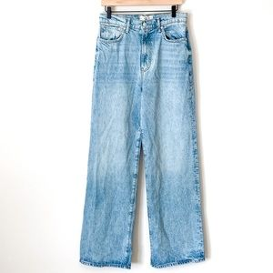 Free People High Rise Straight Leg Jeans